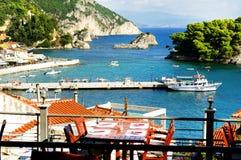 Parga - stazione turistica in Grecia fotografia stock