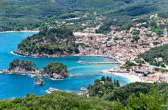 Parga town Greece Stock Images