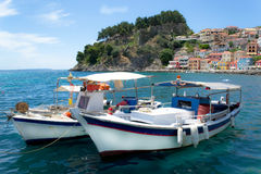 Parga town Greece Royalty Free Stock Images