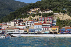 Parga town in Greece Royalty Free Stock Image
