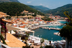 Parga town and port  in Greece. Ionian Royalty Free Stock Image