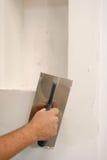 Parget bianco sulla parete Immagini Stock Libere da Diritti