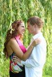 pargreen royaltyfria bilder