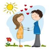 parhänder som rymmer förälskelse ung vektor illustrationer
