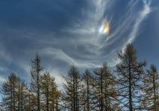 Parhelion nel cielo di autunno Fotografia Stock