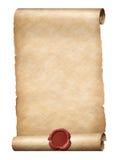 Parhment ślimacznica z czerwonego wosku foki 3d królewską ilustracją Fotografia Stock