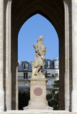 Pari statue of  Blaise Pascal in St Jacques tower, Royalty Free Stock Photos