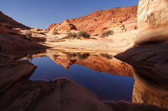 Paria峡谷银朱的峭壁原野,亚利桑那,美国 免版税库存图片