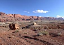 Paria峡谷银朱的峭壁原野,犹他,美国 免版税图库摄影