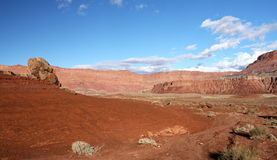 Paria峡谷银朱的峭壁原野,犹他,美国 图库摄影