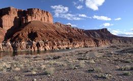 Paria峡谷银朱的峭壁原野,犹他,美国 库存图片