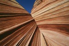 美国亚利桑那Paria峡谷银朱的峭壁原野砂岩岩层关闭  免版税库存图片