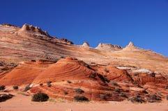 Paria Kanjon-cinnoberfärger klippor vildmark, Arizona, USA Arkivfoto