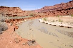 Paria River and Canyon Wilderness Area Royalty Free Stock Photo
