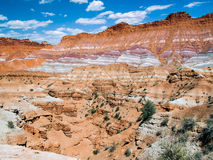 Pariah Valley Colorful Cliffs. The scenery of many movie westerns, the colorful cliffs of the Paria Valley are a part of Utah's Grand Staircase-Escalante Stock Image