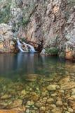 Parida瀑布(Cachoeira da Parida) - Serra da Canastra 库存照片