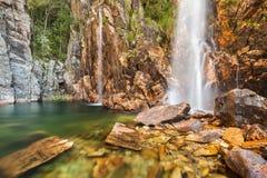 Parida瀑布(Cachoeira da Parida) - Serra da Canastra 图库摄影