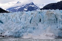 Parida del glaciar Fotos de archivo libres de regalías