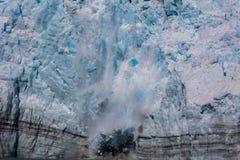 Parida del glaciar de Hubbard Imagen de archivo libre de regalías