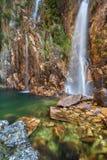 Parida vattenfall (Cachoeira da Parida) - Serra da Canastra Arkivfoton