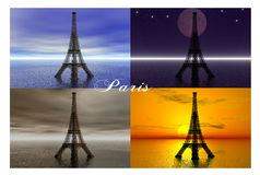 Parigi. illustrazione di stock