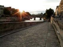 Parigi ad alba Fotografia Stock