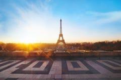 Parigi ad alba Immagine Stock Libera da Diritti