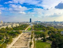 Parigi aerea - 1283 Fotografia Stock Libera da Diritti