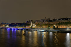 Parigi alla notte Immagine Stock