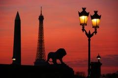 Parigi alla notte Fotografie Stock Libere da Diritti