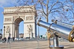 Parigi - Arc de Triomphe Fotografia Stock Libera da Diritti