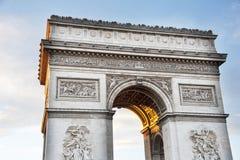 Parigi, Arc de Triomphe Immagine Stock Libera da Diritti