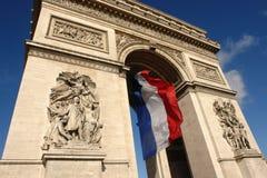 Parigi Arc de Triomphe Fotografia Stock Libera da Diritti