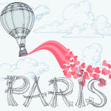 Parigi, città di amore Immagini Stock Libere da Diritti