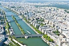 Parigi da sopra Fotografie Stock
