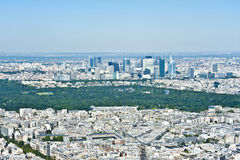 Parigi da sopra Fotografie Stock Libere da Diritti