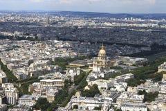 Parigi dal cielo Immagine Stock