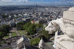 Parigi dalla cima della chiesa sacra del cuore Fotografie Stock Libere da Diritti