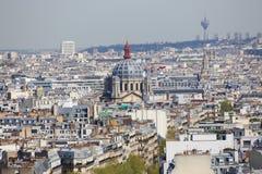 Parigi dalla parte superiore fotografia stock libera da diritti