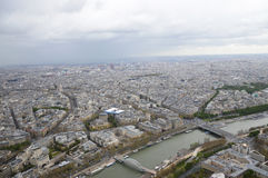 Parigi dalla Torre Eiffel Fotografie Stock