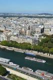 Parigi e fiume Seine Immagini Stock Libere da Diritti