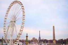 Parigi ferries la ruota Fotografie Stock Libere da Diritti