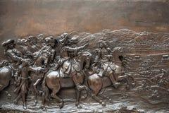 PARIGI, FRANCIA - 30 AGOSTO 2015: Scolpisca il corridoio del museo del Louvre, Parigi, Francia Fotografie Stock
