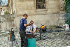 Parigi, Francia Circa aprile 2016 Mostra del fabbro degli artigiani Fotografie Stock