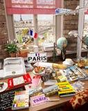 10 Parigi, Francia, destinazione di festa Fotografia Stock