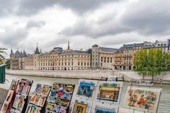 PARIGI, FRANCIA - il 23 aprile, 2016 fortifica Conciergerie fotografia stock libera da diritti