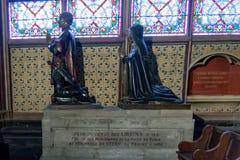 PARIGI, FRANCIA, il 23 aprile 2016 Interno dei dettagli della cattedrale di Notre Dame Immagine Stock