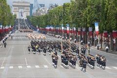 Parigi, Francia - 14 luglio 2012 I soldati dalla legione straniera francese marciano durante la parata militare annuale Immagine Stock Libera da Diritti