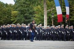 Parigi, Francia - 14 luglio 2012 I soldati dalla legione straniera francese marciano durante la parata militare annuale Immagini Stock Libere da Diritti