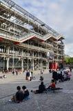 Parigi, Francia - 14 maggio 2015: Centro di visita della gente di Georges Pompidou Immagine Stock Libera da Diritti